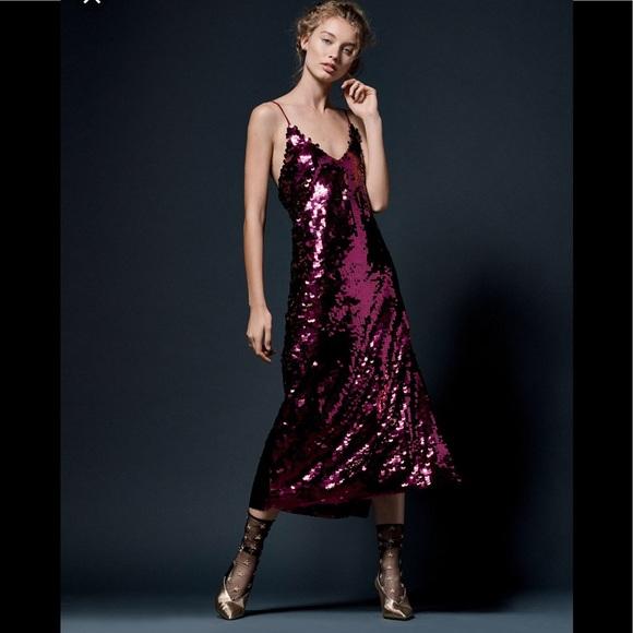 2dafc4eb42 Free People Paillette Sequin Slip Dress